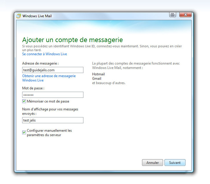 Adresse de messagerie neuf for Messerie fr