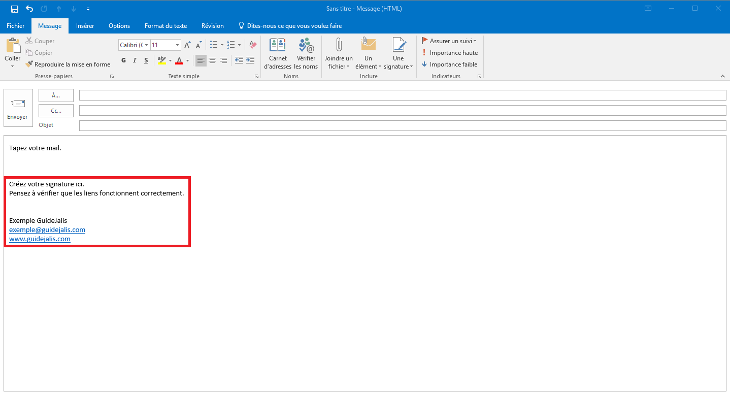 how to change outlook 2016 signatures